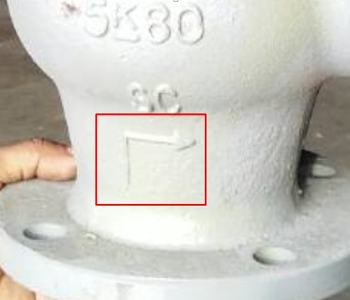 How to install correct direction flow valve