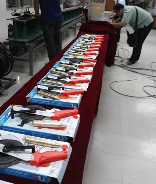 ภาพเทปวัดน้ำมัน ที่รอตรวจ (Oil gauging Tape waiting for Certify by    Central Bureau of Weight and Measures (Government organization)